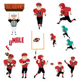 American Football Icons Cliparts Design Elements Stock Photos