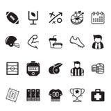 American football icons set. Vector illustration graphic design royalty free illustration