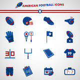 American football icons. Three color collection Royalty Free Stock Image