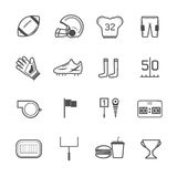 American football icons vector Royalty Free Stock Photo