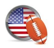 American football illustration design Royalty Free Stock Photography