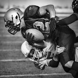 American football. Impact scene, in Barcelona Stock Images