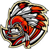 American Football Indian Chief Mascot With Helmet Stock Image