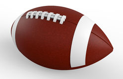 American football isolated. 3D rendered illustration of an american football. The composition is isolated on a white background with soft shadows Stock Photography