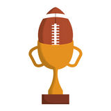 American football isolated icon Stock Image