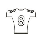 American football jersey uniform tshirt outline Royalty Free Stock Images
