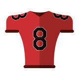 American football jersey uniform tshirt Royalty Free Stock Photo