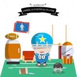 American football kid character  Royalty Free Stock Photo