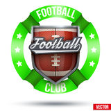 American Football Label Royalty Free Stock Photos