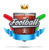 American Football Label Stock Image