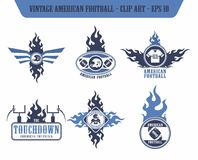 American football label sticker Royalty Free Stock Photography