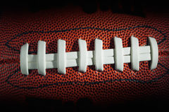 American football laces and texture Stock Image