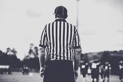 American football line umpire, referee Royalty Free Stock Photos
