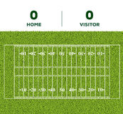 American football line, game score and green grass field backgr. Outdoor American football line, game score and green grass field background for the mockup Stock Photos