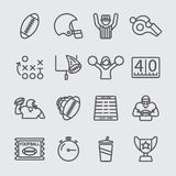 American football line icon Stock Photography
