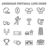 American football line icons Royalty Free Stock Images