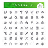 American Football  Line Icons Set Royalty Free Stock Photo