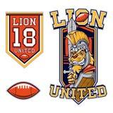 American Football Lion Gladiator Mascot Stock Photos