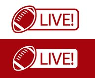American football LIVE broadcast icon vector illustration