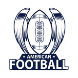 American Football Logo. American Sport style. Vector illustration Stock Photo
