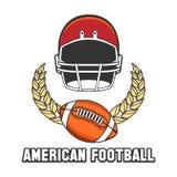 American football logo emblem Royalty Free Stock Photo