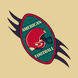 American Football logo and emblem Stock Photography