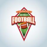 American football logo template. American football emblem, logotype template, t-shirt apparel design. American football ball. Stock Photos