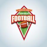 American football logo template. American football emblem, logotype template, t-shirt apparel design. Stock Photography