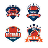 American football logo template collection. Vector illustration Stock Image