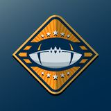 American Football Logo Template. Vector College Logos Illustrati Stock Photography