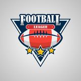 American Football Logo Template Vector Design. This is Vector based - American Football Logo that can be scale to any size without losing quality and focus. You Stock Images