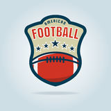 American football logo template. Vector illustration Royalty Free Stock Image