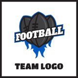American football vintage label. American football logo vintage label  badge Royalty Free Stock Photography