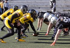 American football match Royalty Free Stock Photos