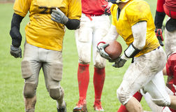 American football match Stock Photos