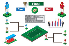American football match infographic Stock Photo