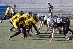American football match in Spain Stock Photography