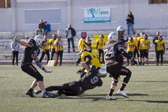 American football match in Spain Stock Photos