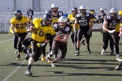 American football match in Spain Royalty Free Stock Photography