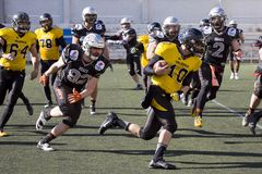 American football match in Spain Stock Photo