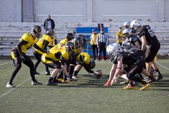 American football match in Spain Stock Images