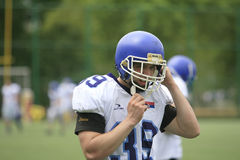 American Football Match Between Wolves And Blue Dragon Royalty Free Stock Photo