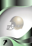 American football metal background Stock Photos