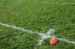 American Football on Natural Grass Turf Stock Photos