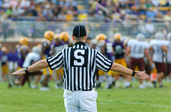 American Football Official. Or referee working a game Royalty Free Stock Image