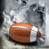 American football over grunge background Royalty Free Stock Images