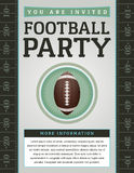 American Football Party Flyer Stock Photography