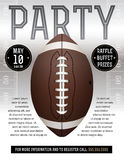 American Football Party Flyer Royalty Free Stock Image