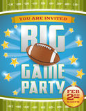 American Football Party Flyer. A flyer design perfect for tailgate parties, football invites, etc. Vector EPS 10 file available. EPS file contains transparencies Royalty Free Stock Images