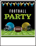 American Football Party Flyer Illustration Royalty Free Stock Photo